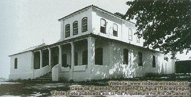 Casa da fazendo do Engenho D´Agua em Jacarepagua