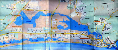 Mapa turístico da Barra da Tijuca, Joá e Itanhangá