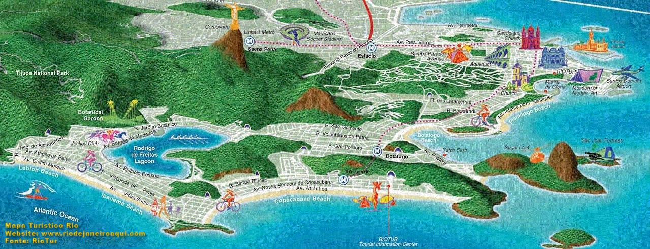 Mapa Turisitco Do Rio