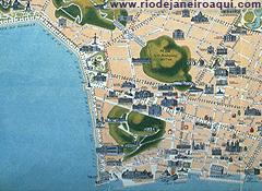 Mapa turístico do Centro do Rio em 1914