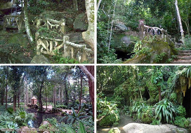 projeto de gruta de jardim : projeto de gruta de jardim:Elementos construidos do Jardim Romântico ou Jardim Inglês