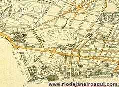 Planta do Centro do Rio em 1906