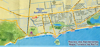 Mapa do Recreio dos Bandeiras