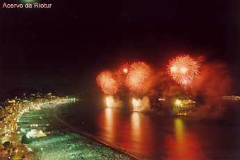 Reveillon e queima de fogos - Copacabana - Após o ano 2000