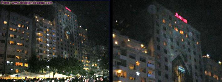 Fotos da Av. Atlantica e da queima de fogos em Copacabana